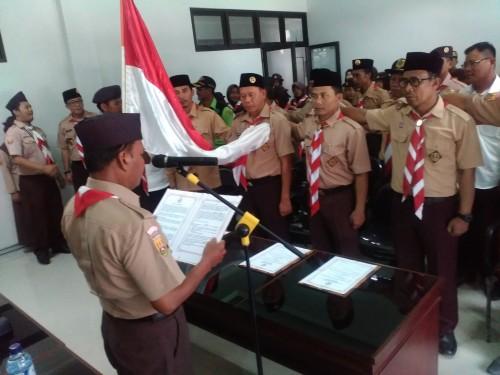 Pelantikan Pengurus Mabiran, Kwarran dan LPK Gerakan Pramuka Ciawi Periode 2017-2022